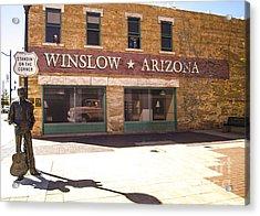 Standin On The Corner In Winslow Arizona Acrylic Print by Deborah Smolinske