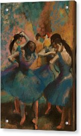 Standing Ballerinas Acrylic Print