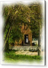 Standing In The Doorway Acrylic Print