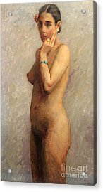 Standing Nude 1929 Acrylic Print by Art By Tolpo Collection