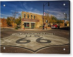 Standing On The Corner In Winslow Arizona Dsc08854 Acrylic Print