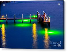 Standing On The Dock Of The Bay Acrylic Print