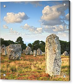 Standing Stones Carnac Brittany Acrylic Print by Colin and Linda McKie