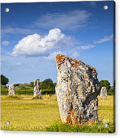 Standing Stones Lagatjar Camaret Sur Mer Brittany France Acrylic Print by Colin and Linda McKie