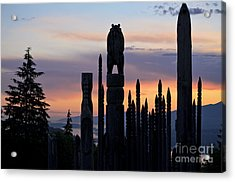 Acrylic Print featuring the photograph Standing Tall At Sunset by Maria Janicki