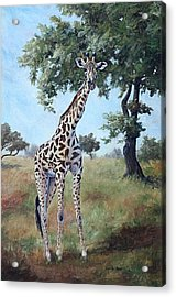Acrylic Print featuring the painting Standing Tall by Brenda Thour