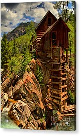 Standing Tall In Crystal Acrylic Print by Adam Jewell