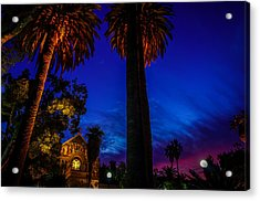 Stanford University Memorial Church At Sunset Acrylic Print by Scott McGuire