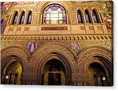 Stanford University Memorial Church Close Up Acrylic Print by Scott McGuire