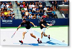 Stanislas Wawrinka In Action Acrylic Print by Nishanth Gopinathan