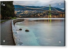 Stanley Park Seawall View Acrylic Print