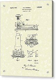 Stapler 1932 Patent Art Acrylic Print by Prior Art Design