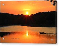 Star Burst Sunset Acrylic Print