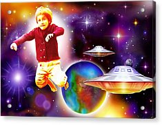 Star Child Acrylic Print by Hartmut Jager