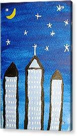 Star City Acrylic Print by Will Boutin Photos