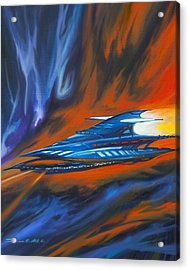 Star Cruiser Acrylic Print by James Christopher Hill