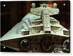 Star Destroyer Maquette Acrylic Print by Micah May