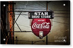 Star Drug Store 2 Acrylic Print by Perry Webster