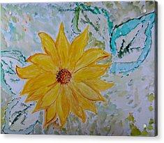 Star Flower Acrylic Print by Sonali Gangane
