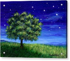 Acrylic Print featuring the painting Star Gazing by Sandra Estes