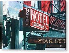 Star Hotel Acrylic Print by Anthony Butera