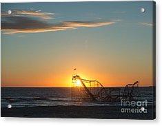 Star Jet Sunrise Silhouettte Acrylic Print by Michael Ver Sprill