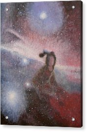 Acrylic Print featuring the painting Star Lady by Min Zou