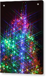 Acrylic Print featuring the photograph Star Like Christmas Lights by Patrice Zinck