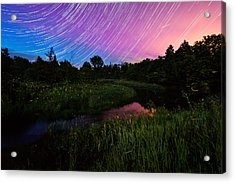 Star Lines And Fireflies Acrylic Print by Matt Molloy