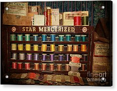 Star Mercerized Thread Display Acrylic Print by Janice Rae Pariza