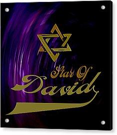 Star Of David Acrylic Print by Daryl Macintyre