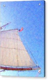 Star Of India. Flag And Sail Acrylic Print by Ben and Raisa Gertsberg