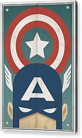 Acrylic Print featuring the digital art Star-spangled Avenger by Michael Myers