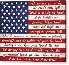 Star Spangled Flag Acrylic Print by Anna Quach