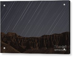 Star Trails Above Martians Valley Acrylic Print by Amin Jamshidi