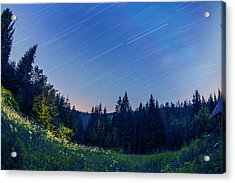 Acrylic Print featuring the photograph Star Trails by Jaroslaw Grudzinski
