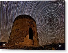 Star Trails Over Alborz Mountains Acrylic Print