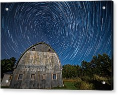 Star Trails Over Barn Acrylic Print