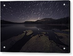 Star Trails Over Silver Lake Resort Acrylic Print