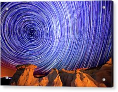 Star Trails Over The Colorado Paint Acrylic Print