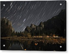 Star Trails Over Yosemite Acrylic Print