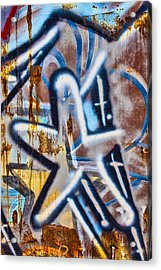 Star Train Graffiti Acrylic Print