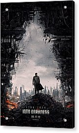 Star Trek Into Darkness  Acrylic Print by Movie Poster Prints