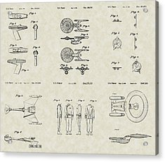 Star Trek Patent Collection Acrylic Print by PatentsAsArt