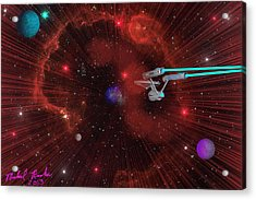 Star Trek - Punch It  Acrylic Print