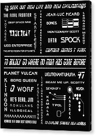 Star Trek Remembered Acrylic Print