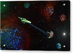 Star Trek -uss Enterprise Acrylic Print by Michael Rucker