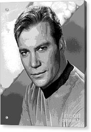 Star Trek William Shatner Pre 1970 Acrylic Print by R Muirhead Art