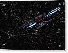 Star Trek - Wormhole Effect - Uss Enterprise D Acrylic Print by Jason Politte