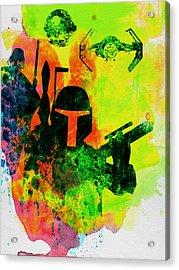 Star Warriors Watercolor 3 Acrylic Print by Naxart Studio